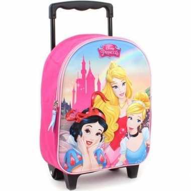 Disney prinses handbagage reiskoffer/trolley 31 cm voor meisjes