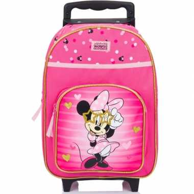 Minnie mouse handbagage reiskoffer/trolley 38 cm voor kinderen