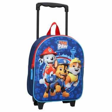 Paw patrol handbagage reiskoffer/trolley 32 cm voor kinderen
