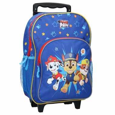 Paw patrol handbagage reiskoffer/trolley 38 cm voor kinderen