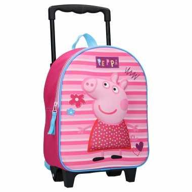 Peppa pig handbagage reiskoffer/trolley 31 cm voor kinderen