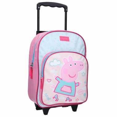 Peppa pig handbagage reiskoffer/trolley 38 cm voor kinderen