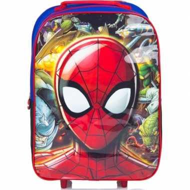 Spiderman handbagage reiskoffer/trolley 42 cm voor kinderen