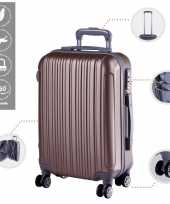 Cabine trolley koffer met zwenkwielen 33 liter goud 10296515